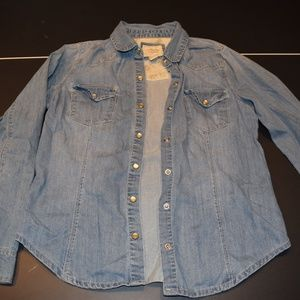 Women's S Blue Forever 21 Jean Jacket